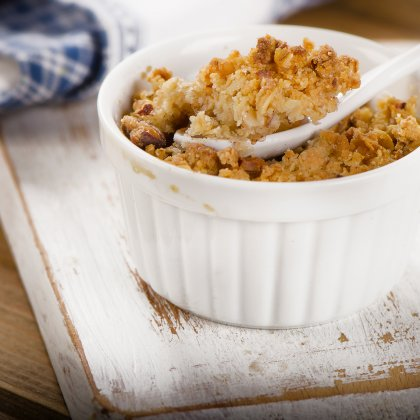 Crumble d'asperges blanches au Bargkass